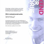 MCA metaalconstructie erkend leerbedrijf